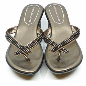 Athena Alexander pewter roxi sandal size 5
